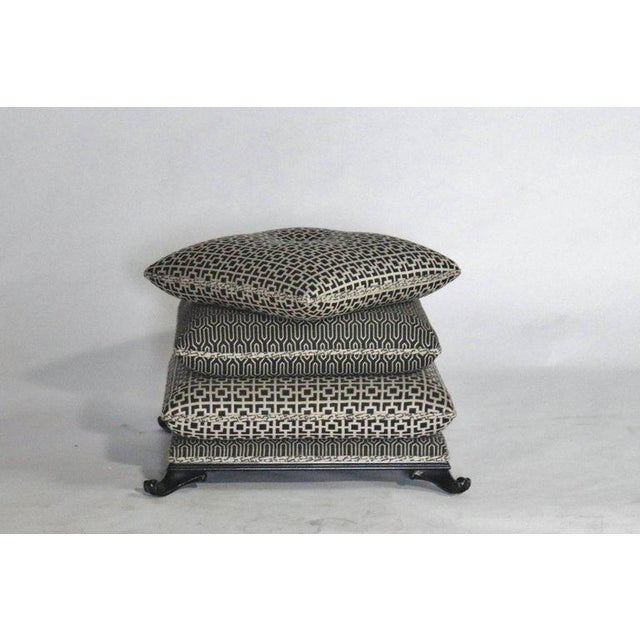 Fabric Stacked Pillow Pouf or Ottoman For Sale - Image 7 of 8