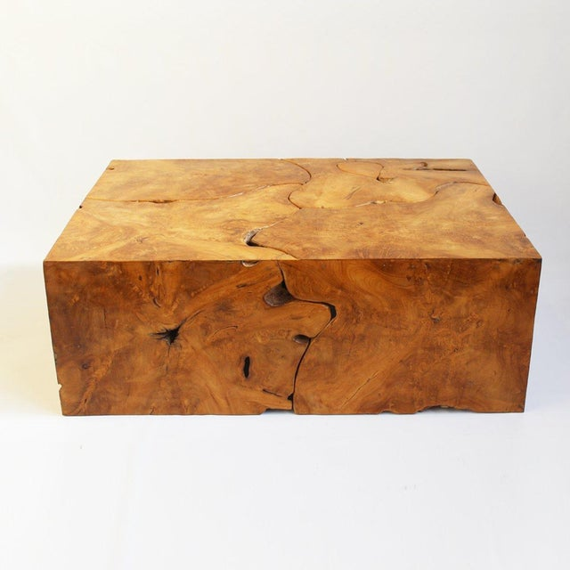 Teak Root Coffee Table Base: Teak Root Box Coffee Table