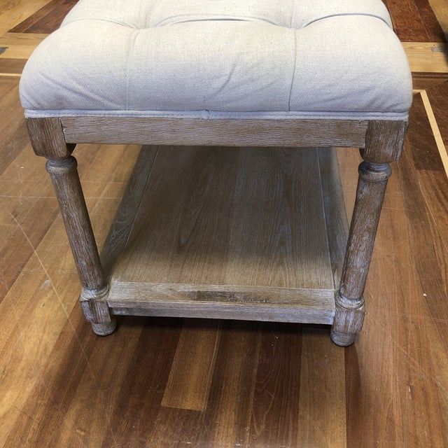 Ballard Designs Saverne Tufted Bench For Sale - Image 9 of 10