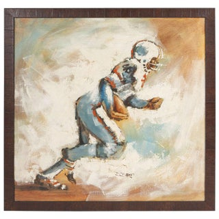 Oil Painting of Football Player For Sale
