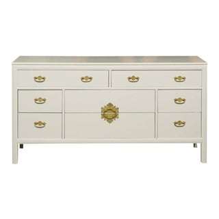 Restored Vintage Chest by Century Furniture in Cream Lacquer For Sale
