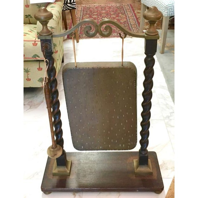 Call everyone to dinner the Downton Abbey way with an antique dinner gong. The oblong gong is brass and probably Asian in...