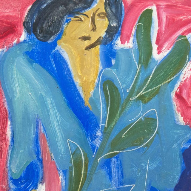 Impressionist Victor DI Gesu, California Post-Impressionist, 'Woman Seated', Louvre, Lacma, Académie Chaumière, Circa 1955 For Sale - Image 3 of 7