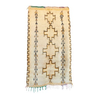 "Azilal Vintage Moroccan Rug, 4'7"" X 8'0"" Feet"