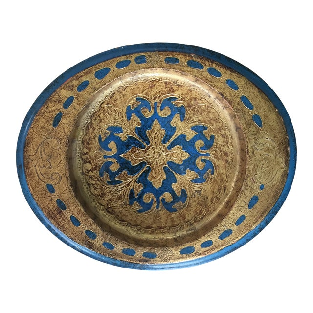 Made in Italy Florentine Small Tray Wooden Dish - Image 1 of 10