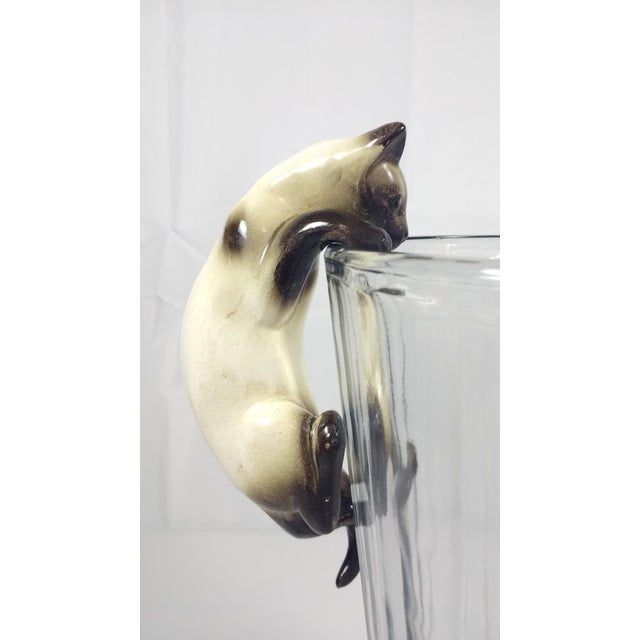 Vintage Hand-Painted Ceramic Hanging Siamese Cat - Image 6 of 7
