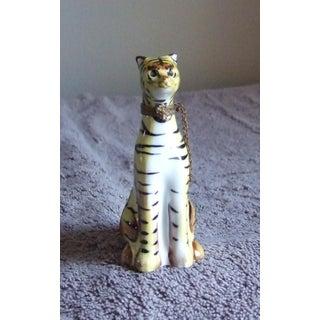 Vintage Limoges Tiger Tabby Cat Trinket Box Preview