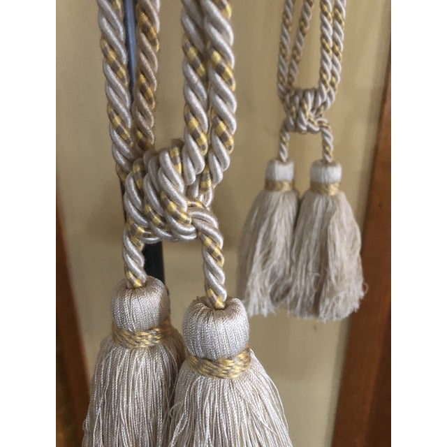 Traditional Samuel & Sons Double Tie Back Tassels - a Pair For Sale - Image 3 of 5