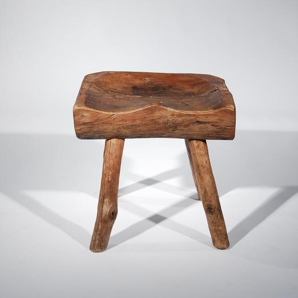 Small Wooden Carved Stool For Sale - Image 11 of 11