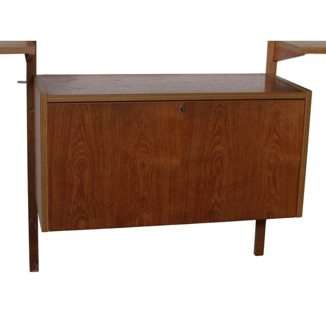 Wood Mid Century Danish 7 Bay Teak Shelving Unit by Ps System For Sale - Image 7 of 13