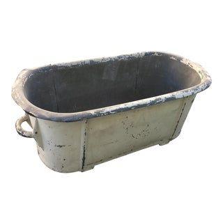 Early American Antique Tin Tub