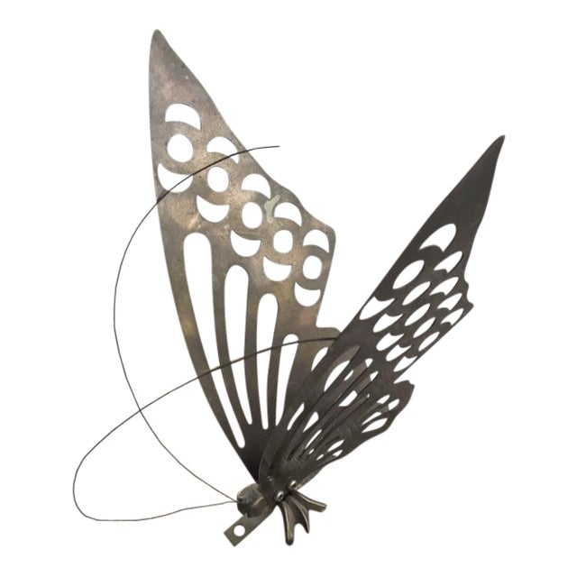 Vintage Brass Butterfly Wall Decor - Image 1 of 6