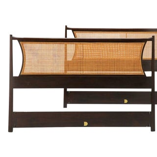 Mid-Century Modern Edward Wormley for Dunbar American Mahogany Headboard For Sale