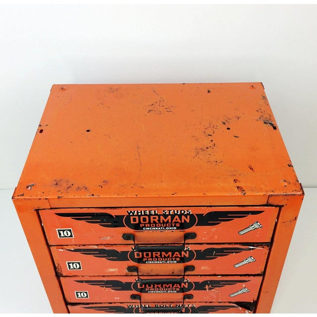 You can always use extra storage in the garage and this vintage 4 drawer Dorman cabinet would be great! Vintage Industrial...