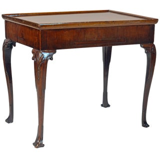 18th Century George II Mahogany Tric-Trac Game Table