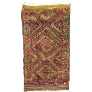"""Vintage Beni M'Guild Moroccan Rug - 07'01"""" X 12' For Sale"""