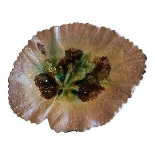 Vintage Majolica Leaf Plate For Sale