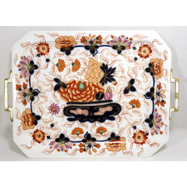Antique Bone China Imari Style Serving Tray For Sale - Image 13 of 13