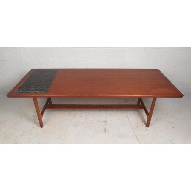 Vintage Modern Walnut Coffee Table For Sale - Image 12 of 12