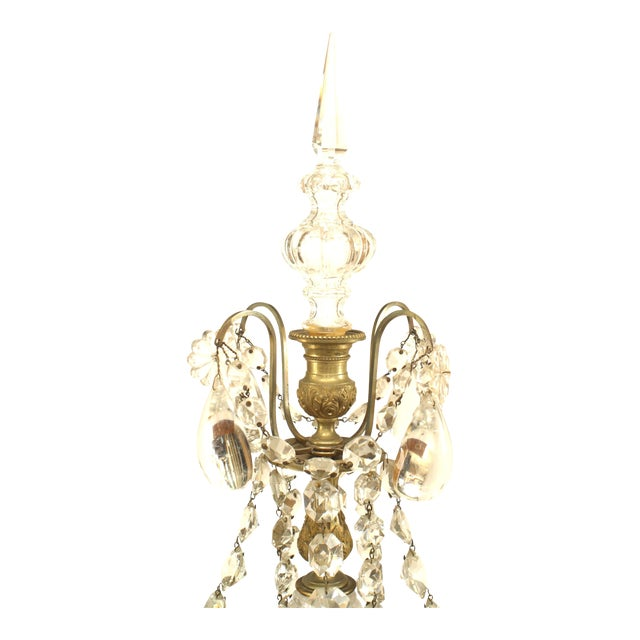 Pair of French Victorian Fluted Four-Arm Candelabra For Sale