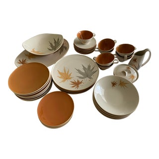 """Vintage Iroquois Informal China """"Harvest Time"""" Place Settings and Serving Pieces - Set of 37 For Sale"""