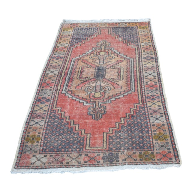 Anatolian Tribal Handwoven Rug - 3′5″ × 6′2″ - Image 1 of 6