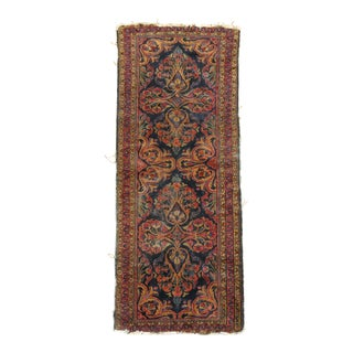 Blue Antique Runner, 2'7' X 5'9'' For Sale