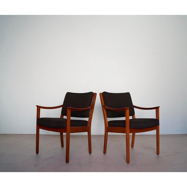 Gunlocke Mid-Century Modern Walnut Armchairs - A Pair For Sale - Image 13 of 13