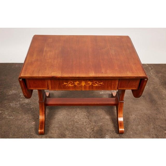 19th Century Danish Empire Mahogany Salon Table For Sale - Image 9 of 11