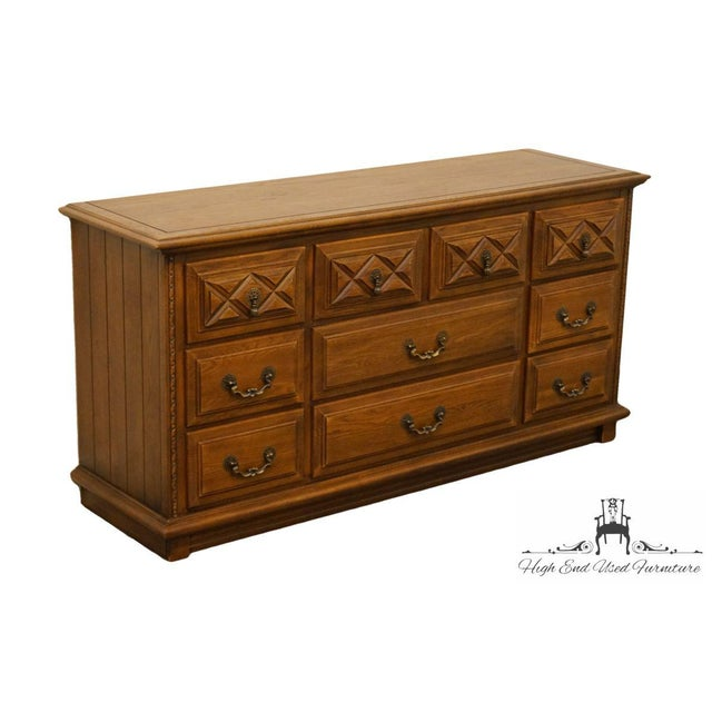YOUNG HINKLE Country Spanish Collection Triple Dresser 7003 Has some water rings on top surface; see picture in gallery?...