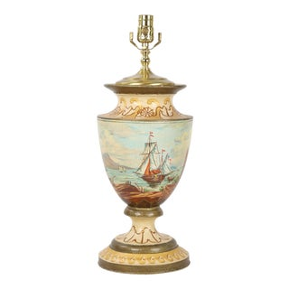Vintage Nautical Urn Lamp For Sale