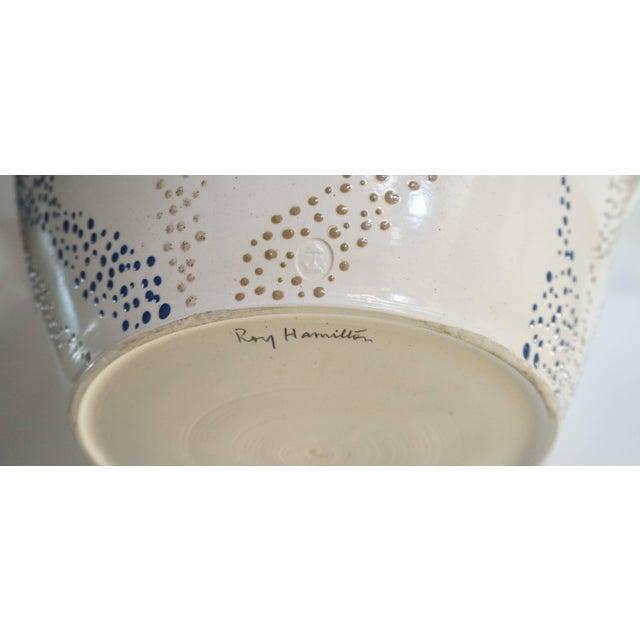 "Ceramic Roy Hamilton ""Faux Marble"" Bowl, Circa 1980 For Sale - Image 7 of 9"