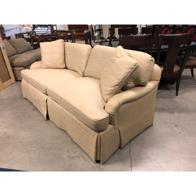 Century Furniture Century Furniture English Arm Sofa in Honey Silk For Sale - Image 4 of 7