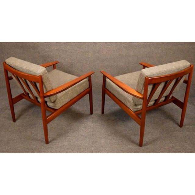 Glostrup Møbelfabrik 1960s Scandinavian Modern Arne Vodder Teak Lounge Chairs - a Pair For Sale - Image 4 of 11