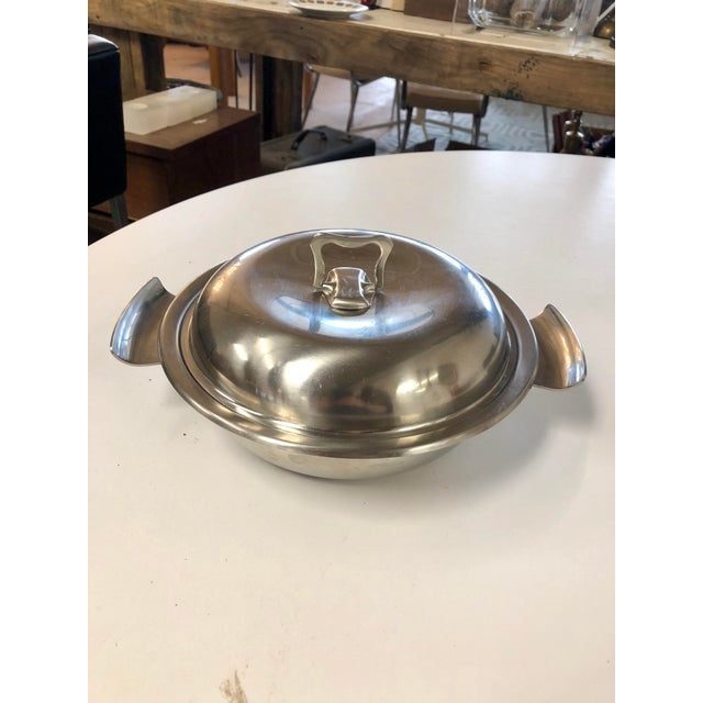 Vintage Gense Swedish Stainless Steel Hotel Server For Sale In Charleston - Image 6 of 6