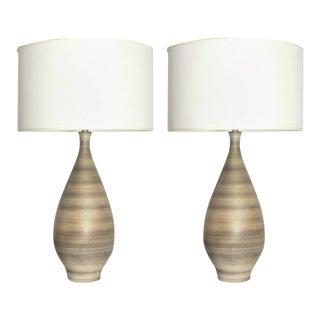 1960s Design Technics Large Ceramic Lamps - A Pair
