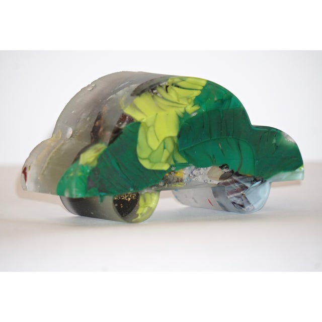 Contemporary Contemporary Recycled Blue, Green, Yellow Murano Glass Decorative Car Sculpture For Sale - Image 3 of 11