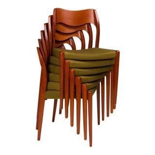 Vintage Niels Otto Møller Model 71 Chairs - Set of 6 For Sale