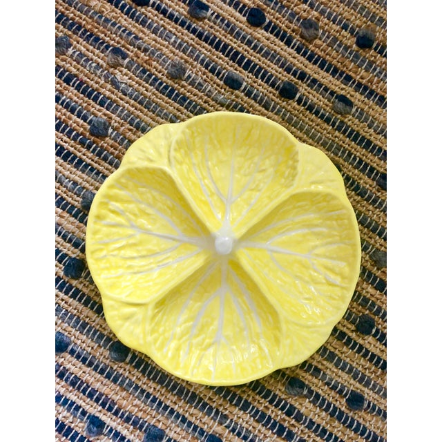 Vintage Yellow Portugese Cabbage Dish For Sale - Image 4 of 4