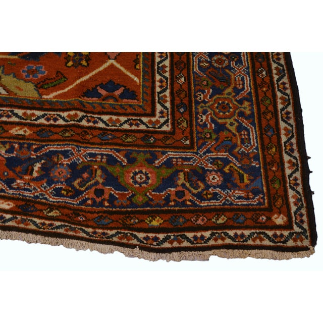 "Vintage Persian Mahal Rug - 7' x 10'4"" For Sale In New York - Image 6 of 8"