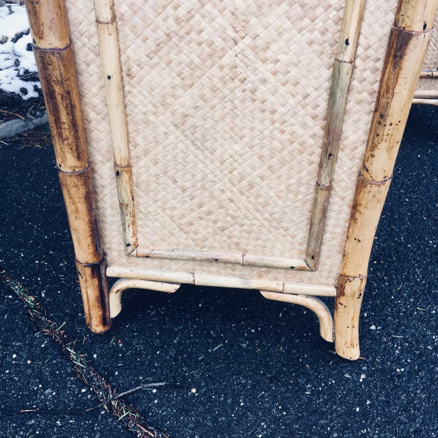 Tan 1970s Boho Chic Rattan Calif Asia and Cartel Nightstands - a Pair For Sale - Image 8 of 10