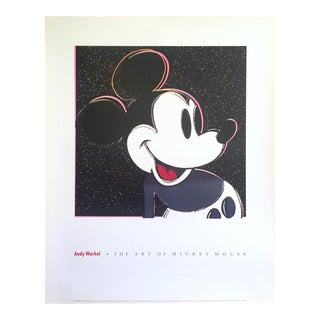 "Andy Warhol Vintage 1993 Lithograph Print Pop Art Poster "" the Art of Mickey Mouse "" 1981"