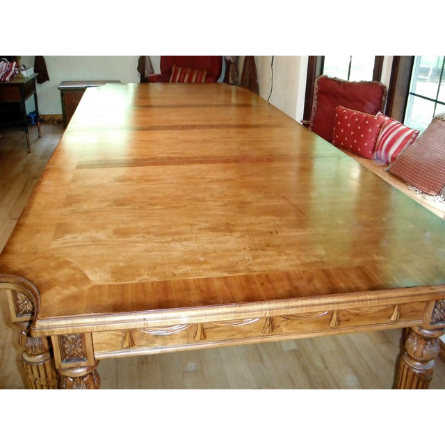 Century Furniture Traditional Carved Dining Table - Image 3 of 7