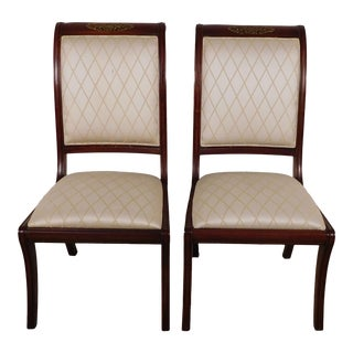 Henredon Historic Natchez Mahogany Sabre Leg Empire Side Chairs - a Pair For Sale