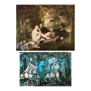 """Manet and Picasso """"Lunch on the Grass"""" First Edition Lithograph and Parisian Photogravure, Set of 2 For Sale"""