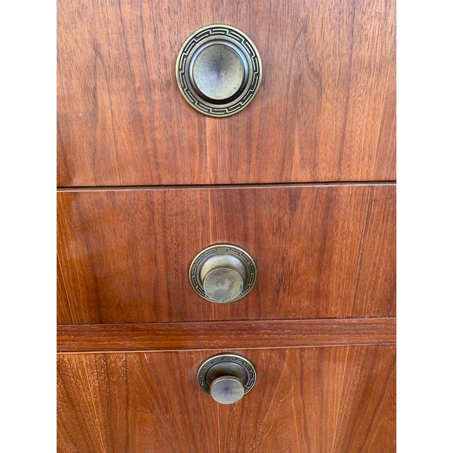 Brown Mid Century Modern American of Martinsville Highboy For Sale - Image 8 of 11