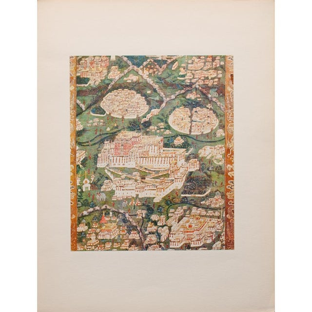 Printmaking Materials 1954 the Potala, Original Parisian Photogravure After 18th C. Tibetan Painting For Sale - Image 7 of 9