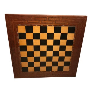 Vintage French Inlaid Wood Game Board For Sale