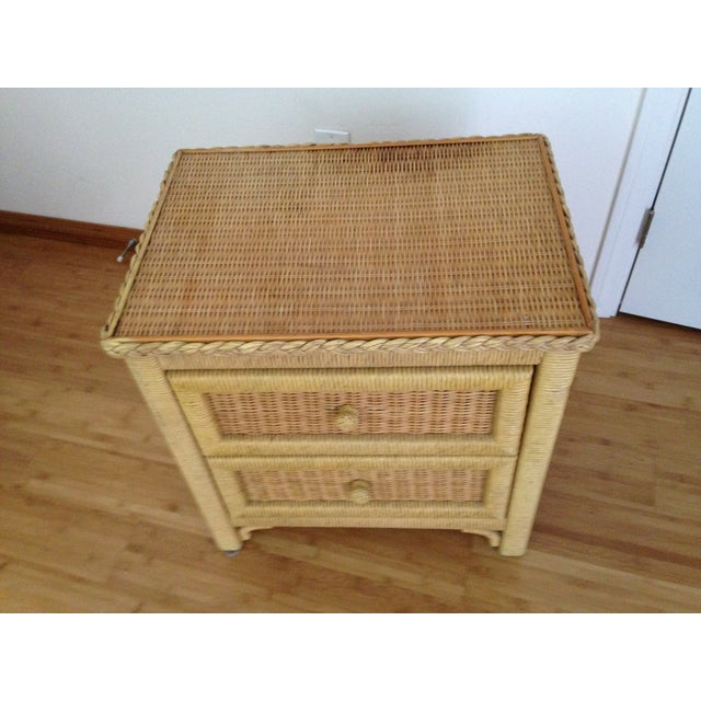 Vintage Wicker Henry Link Nightstand - Image 4 of 8