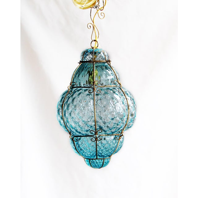 """Unusually large (21"""" in height) 1940's Seguso vetri d'arte, Murano glass from Venice, Italy. A beautiful Robin's Egg Blue!..."""